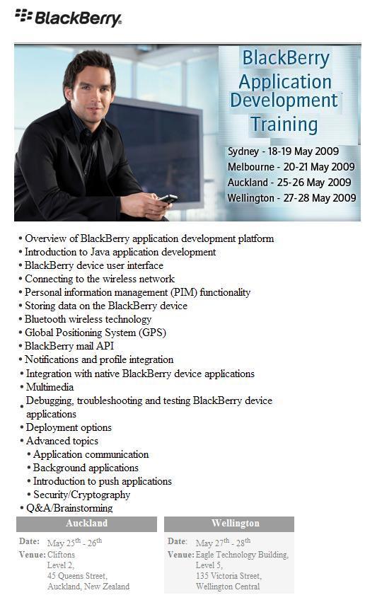 BlackBerry Apps Training